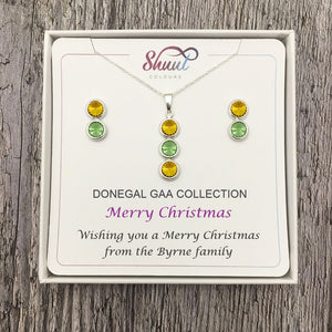 GAA Christmas Gifts For Her - Custom Pendant Necklace & Earrings Set - Shuul