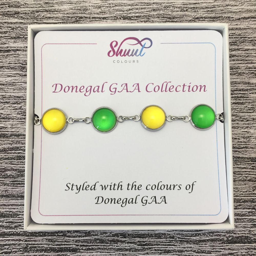 Donegal GAA Ladies County Colours Cabochon Bracelet - Shuul
