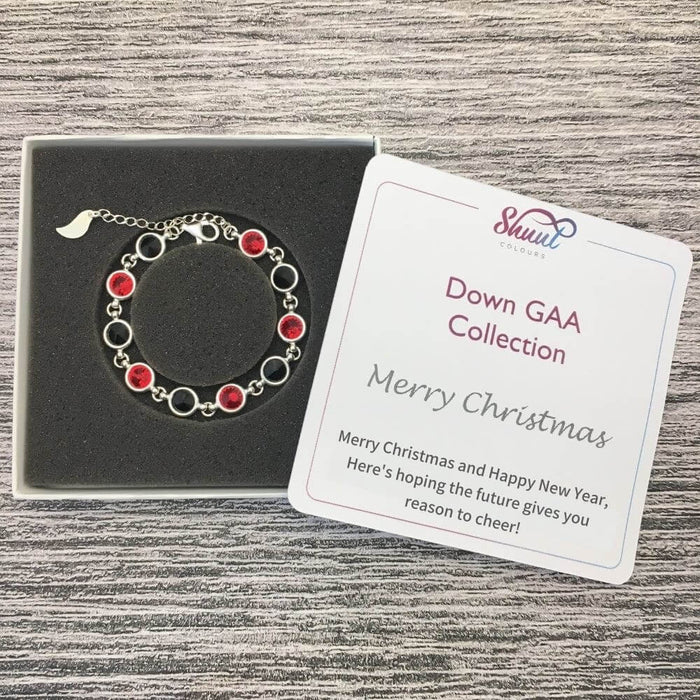 Down Sterling Silver Bracelet with Christmas Message