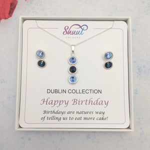GAA County Colour Birthday Gift Set - Pendant & Earrings - Shuul