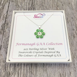 Fermanagh GAA County Colours 7 Drop Sterling Silver Pendant - Shuul