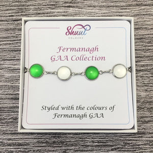 Fermanagh GAA Ladies County Colours Cabochon Bracelet - Shuul