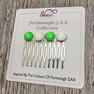 Fermanagh GAA County Colour Hair Slide Clip - Shuul