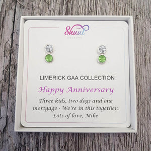 Personalised GAA Earrings - Anniversary Gift With Custom Message - Shuul