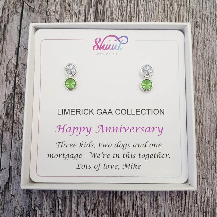 Personalised GAA Earrings - Anniversary Gift With Custom Message