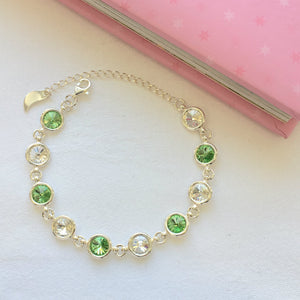 Limerick GAA Colours Inspired Sterling Silver Bracelet With Swarovski Crystals - Shuul