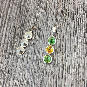 Leitrim GAA Colours Sterling Silver & Swarovski Pendant Necklace - Shuul