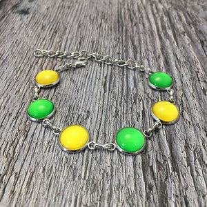 Leitrim GAA Ladies County Colours Cabochon Bracelet - Shuul