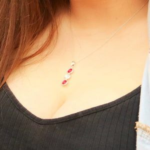 Louth GAA Colours Sterling Silver & Swarovski Pendant Necklace - Shuul