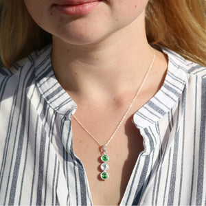 Limerick GAA Colours Sterling Silver & Swarovski Pendant Necklace - Shuul