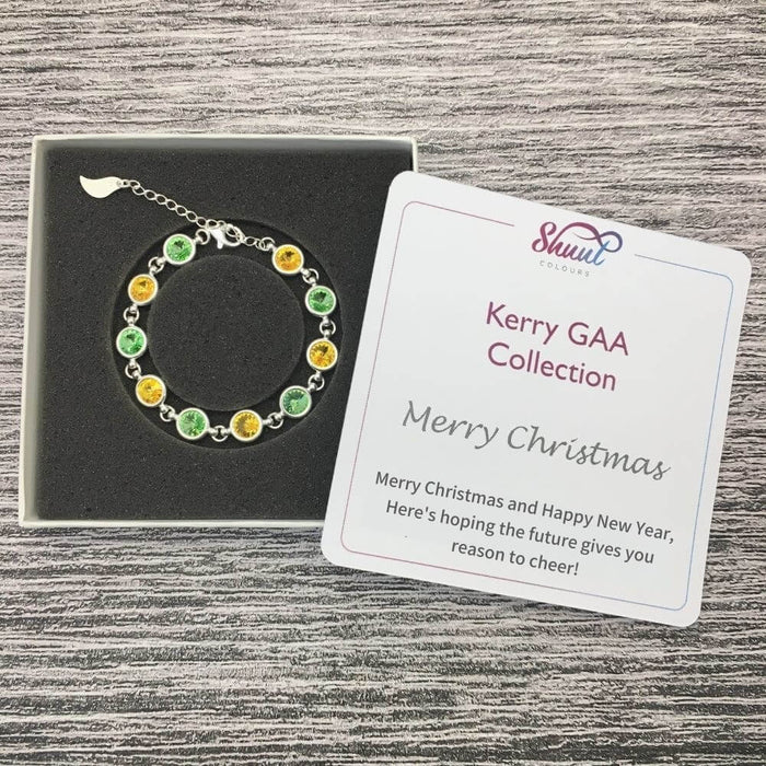Kerry Sterling Silver Bracelet with Christmas Message