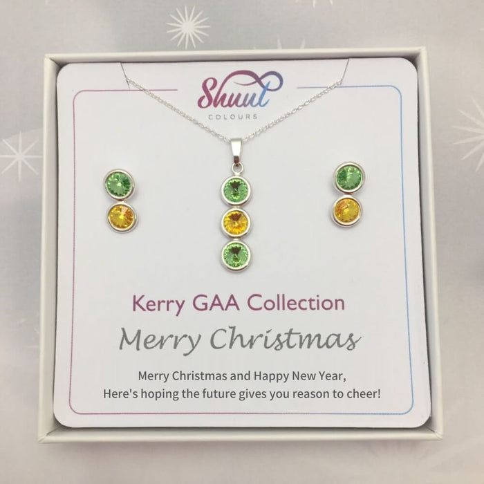Kerry GAA Christmas Matching Jewellery Set