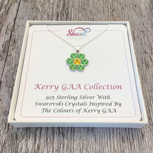 Kerry GAA County Colours 7 Drop Sterling Silver Pendant - Shuul