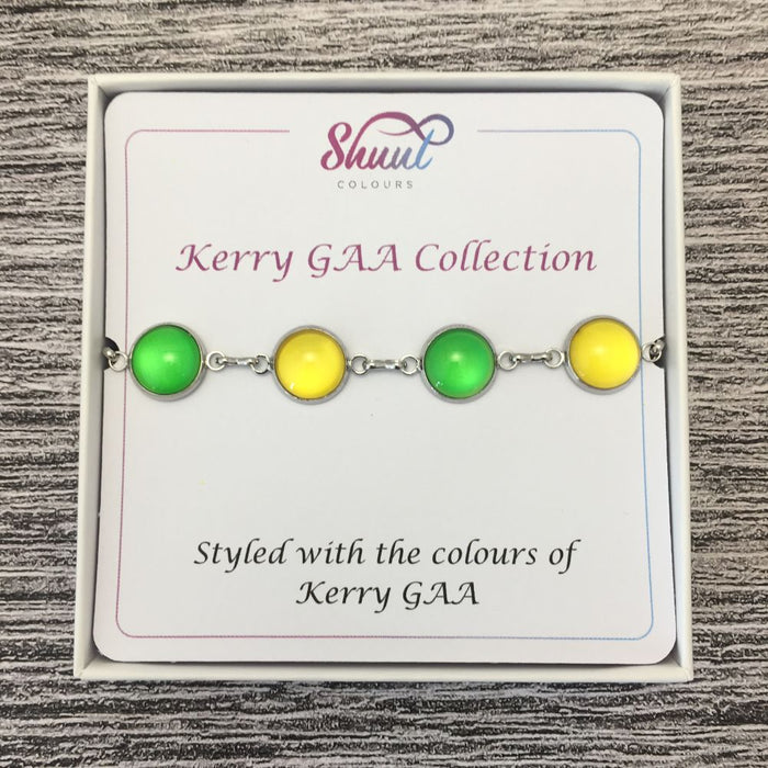 Kerry GAA Ladies County Colours Cabochon Bracelet