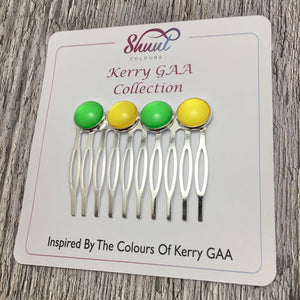 Kerry GAA County Colour Hair Slide Clip - Shuul