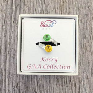 Kerry GAA Sterling Silver Ring with Swarovski Crystals - Shuul