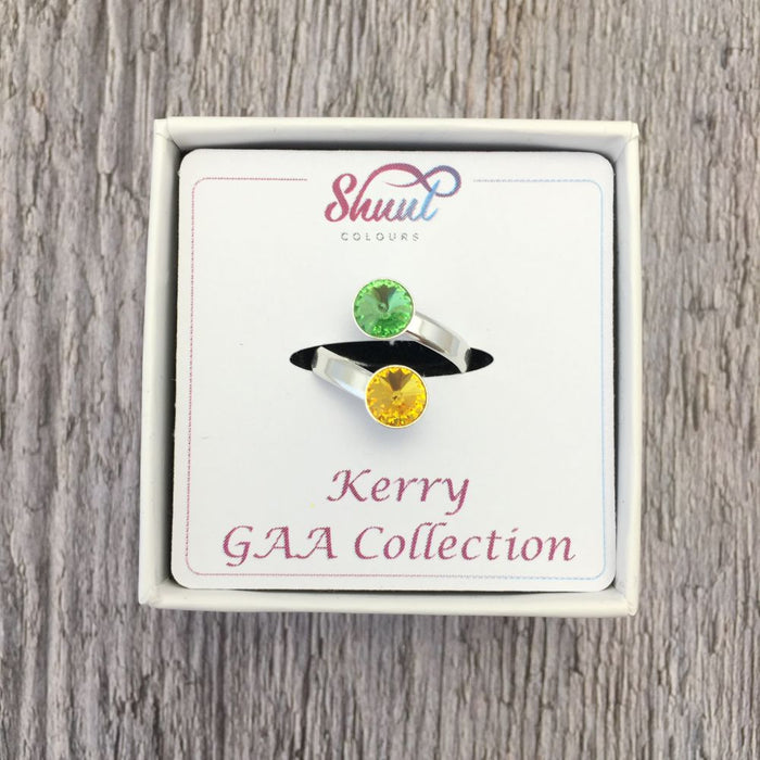 Kerry GAA Sterling Silver Ring with Swarovski Crystals