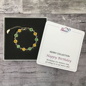 Swarovski GAA Bracelet with Happy Birthday Gift Message - Shuul