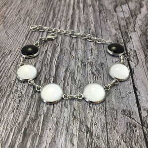 Kildare GAA Ladies County Colours Cabochon Bracelet - Shuul