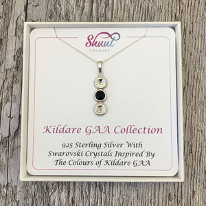 Kildare GAA Colours Sterling Silver & Swarovski Pendant Necklace - Shuul