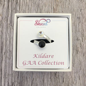 Kildare GAA Sterling Silver Ring with Swarovski Crystals - Shuul