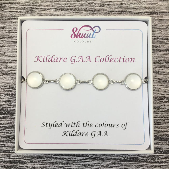 Kildare GAA Ladies County Colours Cabochon Bracelet