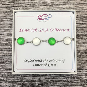 Limerick GAA Ladies County Colours Cabochon Bracelet - Shuul