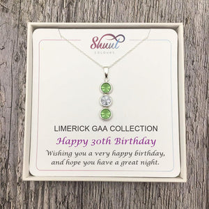 GAA Birthday Gift Pendant - Personalised GAA Sterling Silver Necklace - Shuul