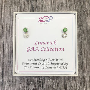 Limerick GAA Colours Sterling Silver Swarovski Earrings - Shuul