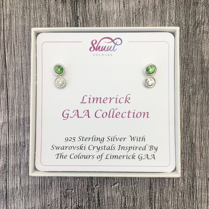 Limerick GAA Colours Sterling Silver Swarovski Earrings