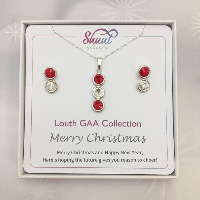 Louth GAA Christmas Matching Jewellery Set