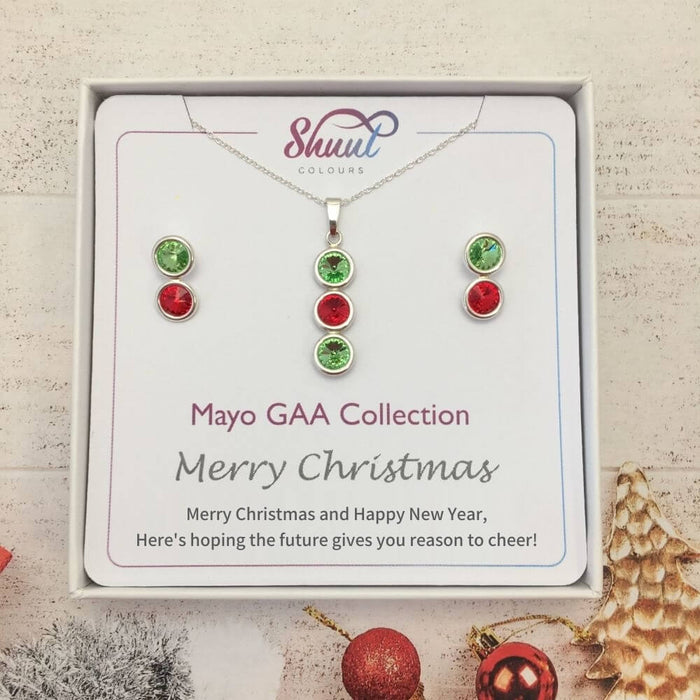Mayo GAA Christmas Matching Jewellery Set