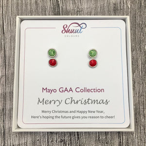 Mayo GAA Earrings - Christmas Gift Set