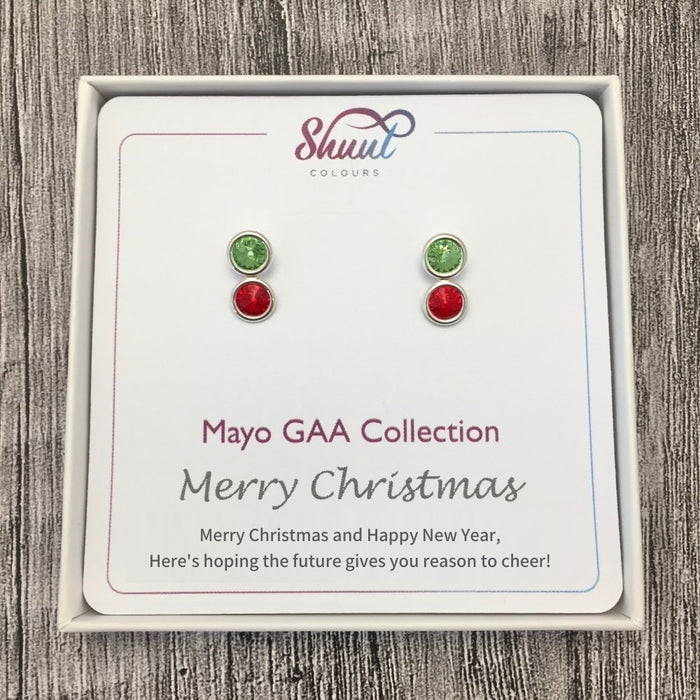 Mayo GAA Stud Earrings Christmas Gift