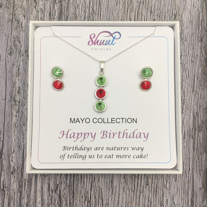 GAA County Colour Birthday Gift Set - Pendant & Earrings