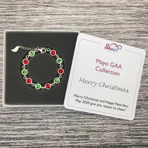 Mayo Sterling Silver Bracelet with Christmas Message - Shuul