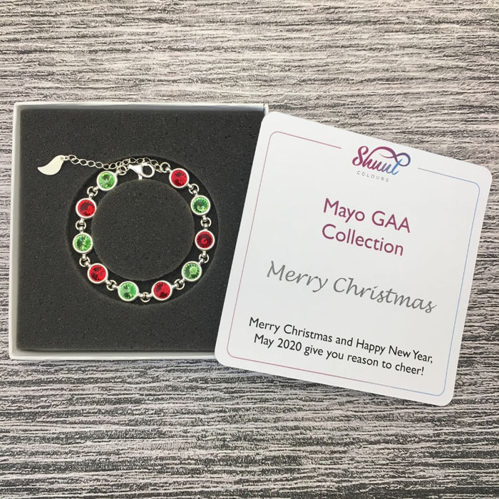 Mayo Sterling Silver Bracelet with Christmas Message