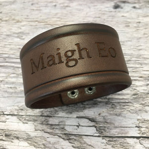 Mayo GAA Leather Bracelet - Unisex - Shuul