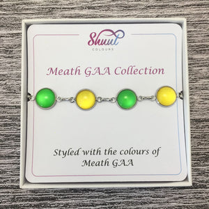 Meath GAA Ladies County Colours Cabochon Bracelet - Shuul