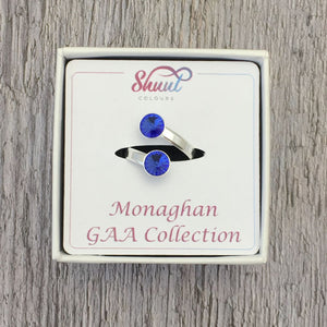 Monaghan GAA Sterling Silver Ring with Swarovski Crystals - Shuul