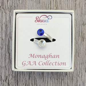 Monaghan GAA Sterling Silver Ring with Swarovski Crystals