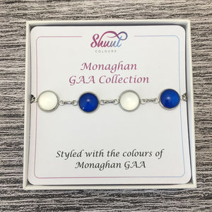 Monaghan GAA Ladies County Colours Cabochon Bracelet
