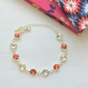 Armagh GAA Colours Inspired Sterling Silver Bracelet With Swarovski Crystals - Shuul