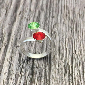 Create Your Own GAA Club Colours Sterling Silver Adjustable Ring - Shuul