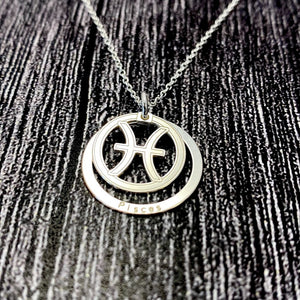 Pisces Star Sign Necklace Pendant