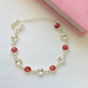 Louth GAA Colours Inspired Sterling Silver Bracelet With Swarovski Crystals - Shuul