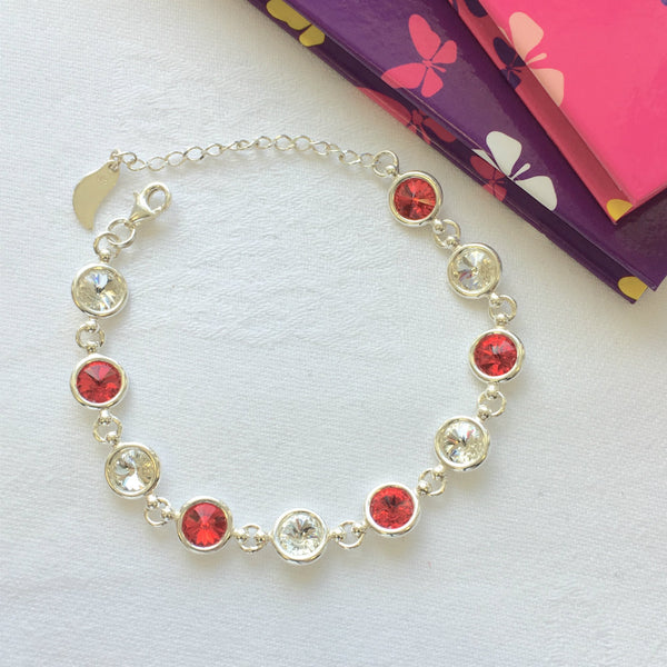 Cork GAA Colours Inspired Sterling Silver Bracelet With Swarovski Crystals - Shuul