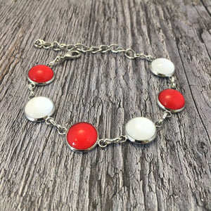 Tyrone GAA Ladies County Colours Cabochon Bracelet - Shuul