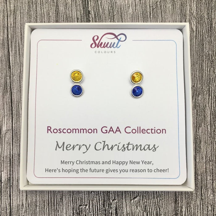 Roscommon GAA Stud Earrings Christmas Gift