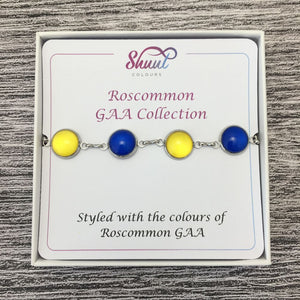 Roscommon GAA Ladies County Colours Cabochon Bracelet - Shuul